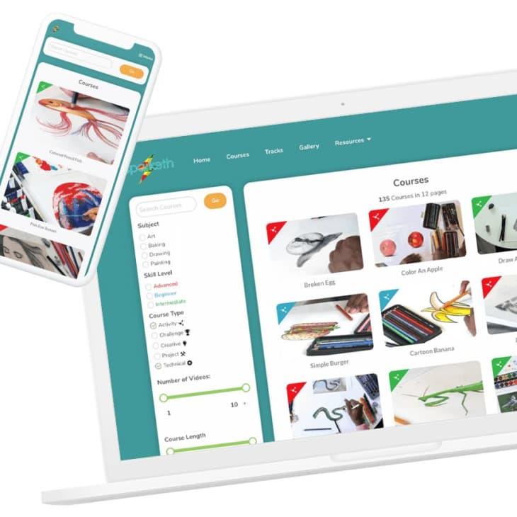 产品图片:Sparketh在线艺术班每月订阅