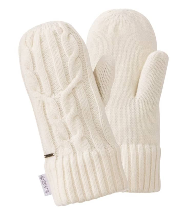 产品形象:女式传统羊毛防风手套