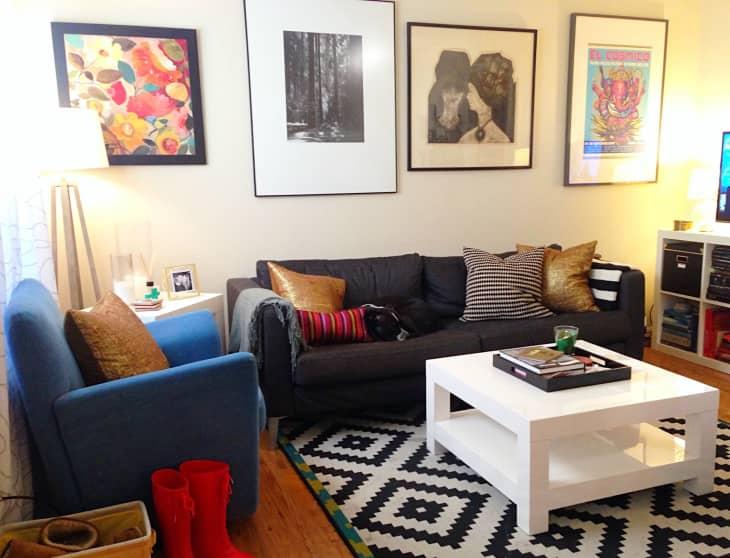 "The ""Blank & Boring to Cheery & Comfortable"" Living Room ... on Comfortable Living  id=21354"