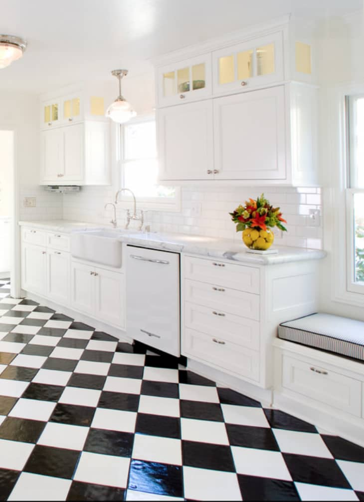 Price Estimates Black White Checkerboard Tiles For Every Budget Apartment Therapy