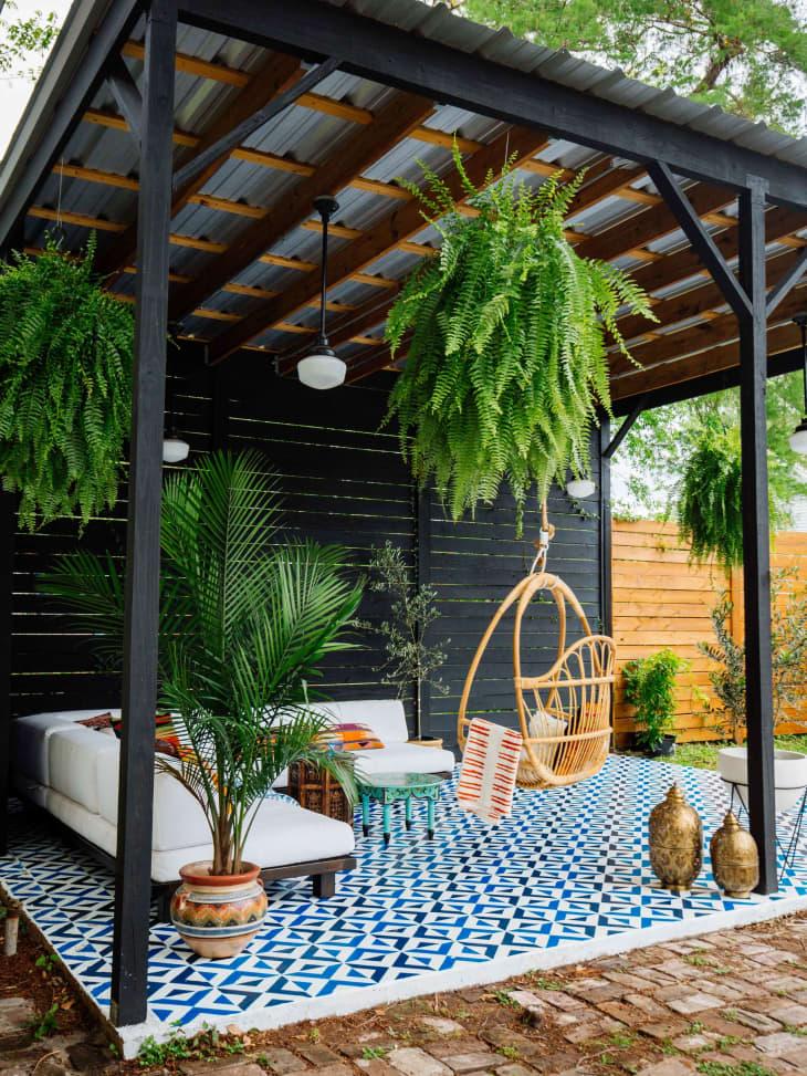 Inspiring Patio Floor Paint Patio Floor Stencil Trend Apartment Therapy