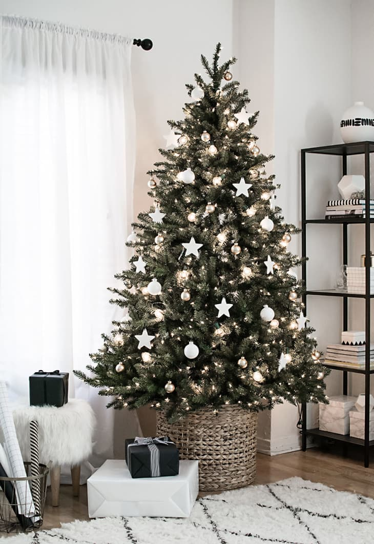 Christmas Tree Skirt Alternatives Tree In A Basket Apartment Therapy