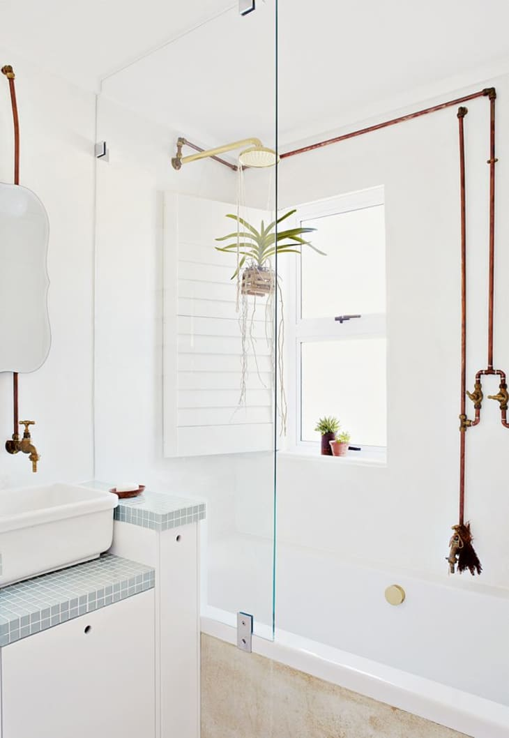 Look We Love Copper In The Bathroom Apartment Therapy