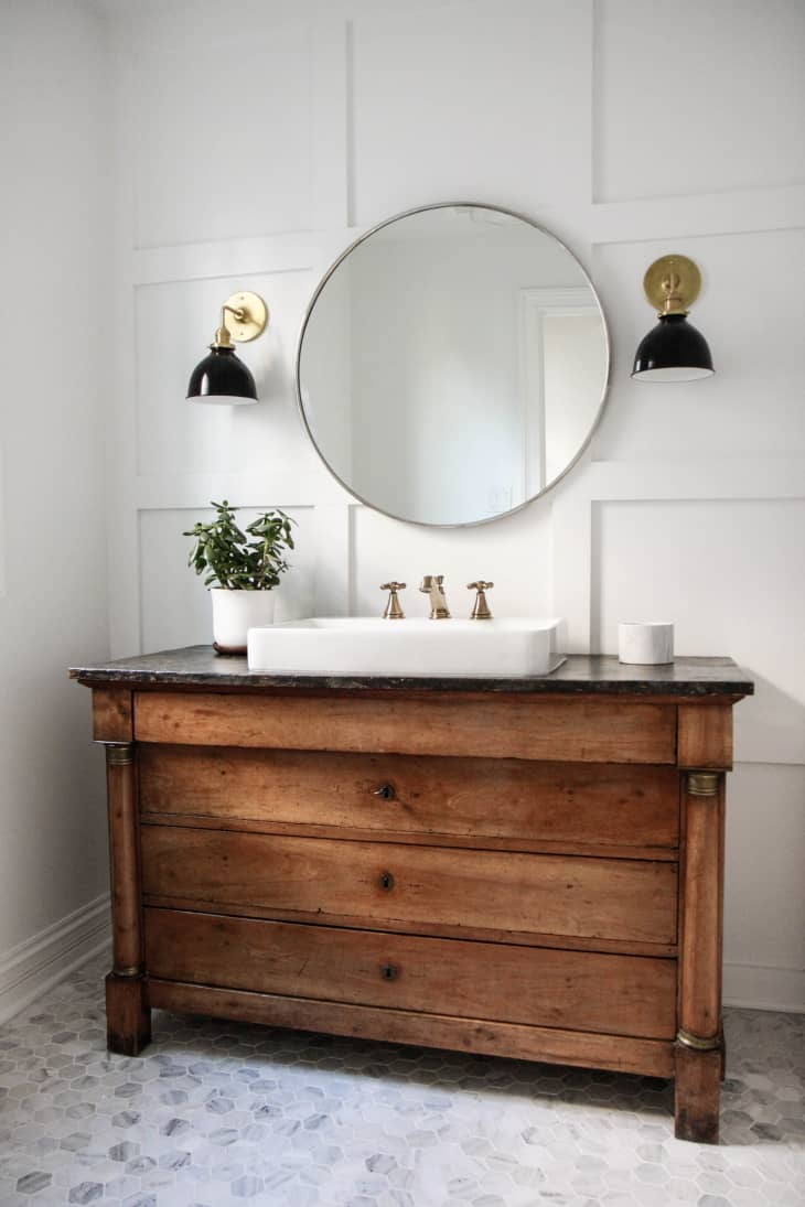 Bathroom Sink Consoles Made From Vintage Dressers Photos Ideas Apartment Therapy