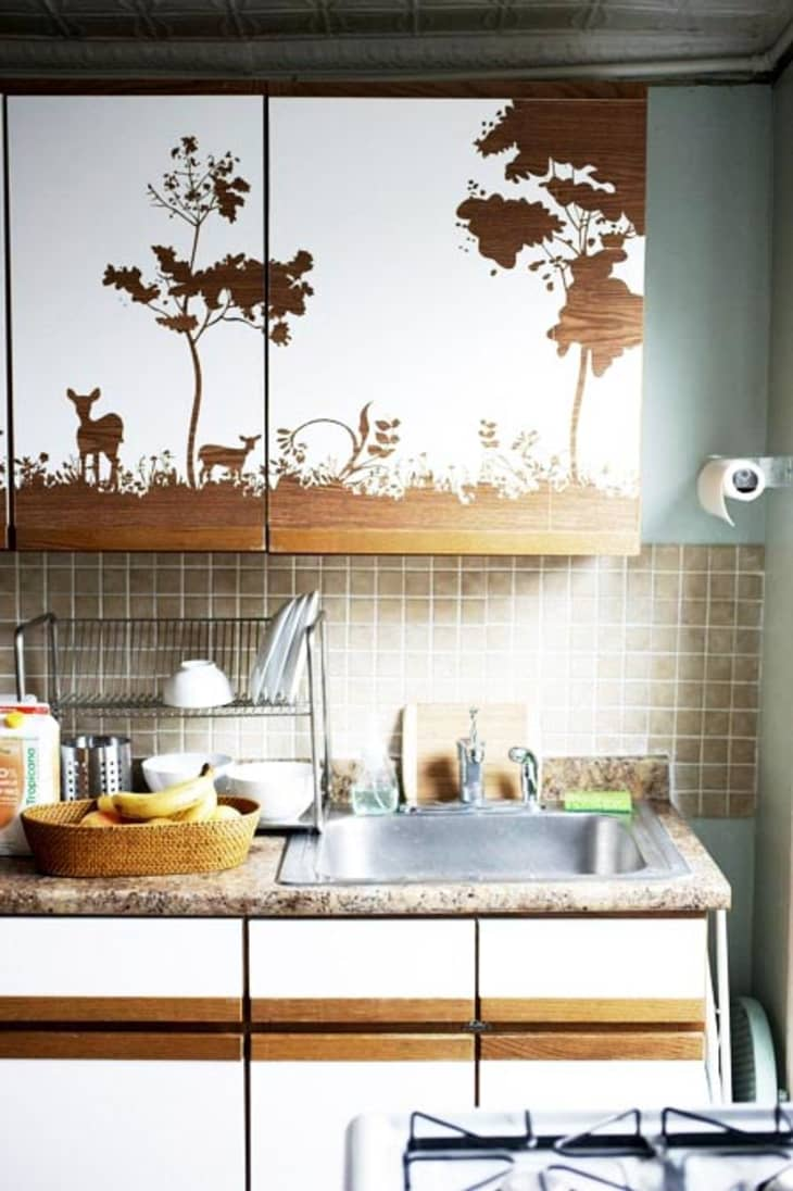 6 Clever Ways To Customize Kitchen Cabinets With Contact Paper Apartment Therapy
