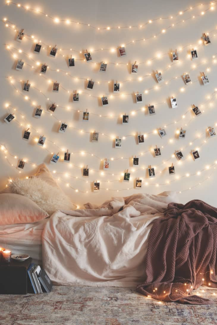Nine Creative Ways To Use String Lights In The Bedroom Apartment Therapy