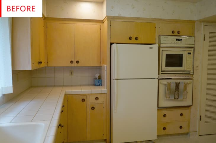 Painted Blue Kitchen Cabinets Remodel Photos Apartment Therapy