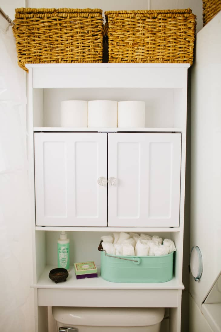Picture of: 8 Ideas For What To Do With That Weird Space Above Your Toilet Apartment Therapy