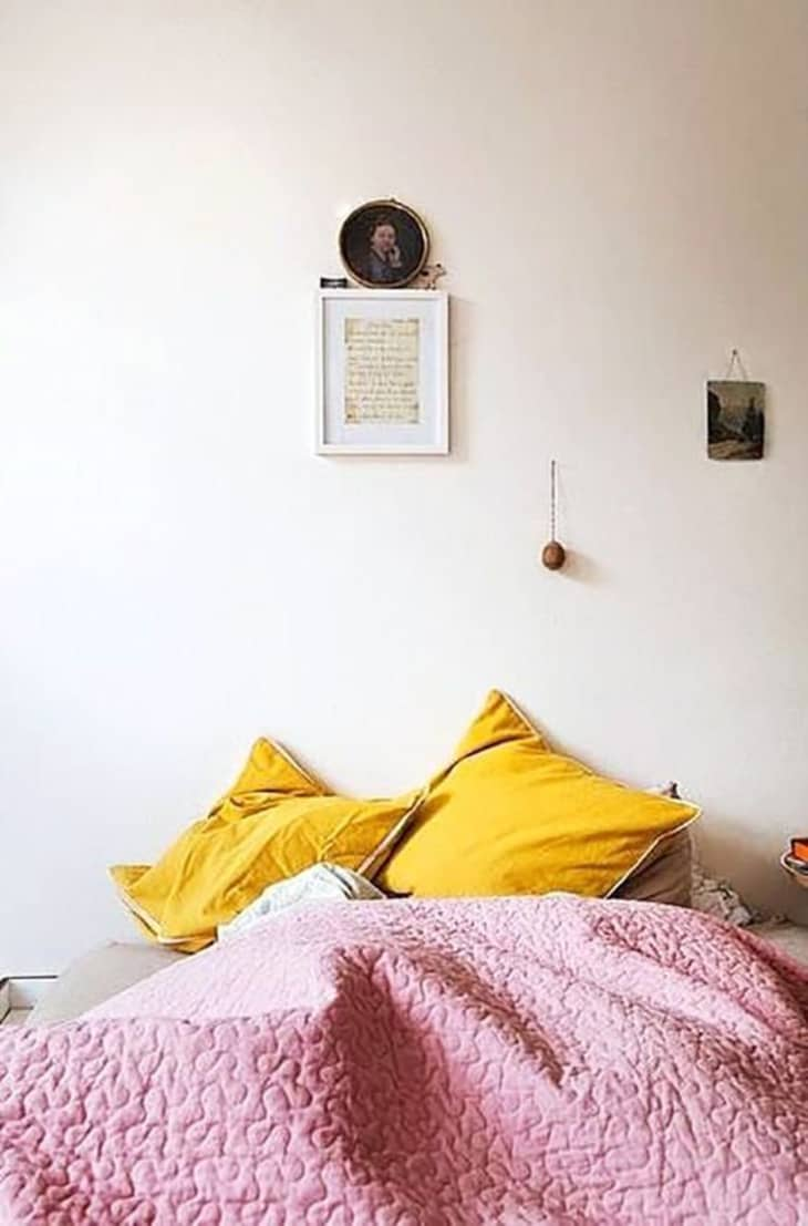 Cool Color Combo Mustard Pink Apartment Therapy
