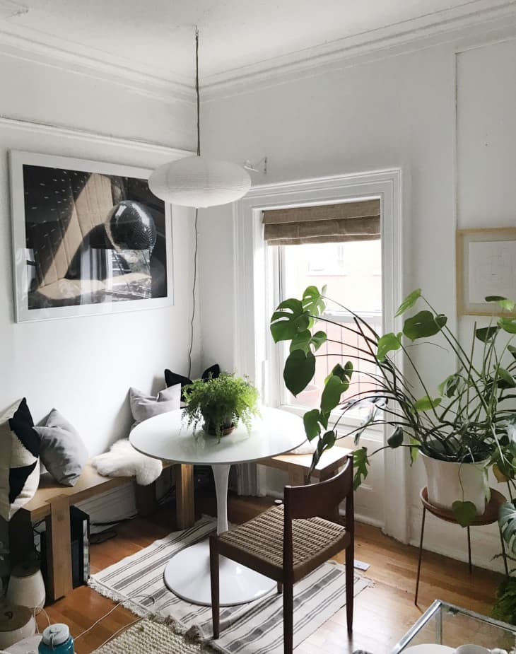 How To Fit A Dining Table In Small Living Room Apartment Therapy