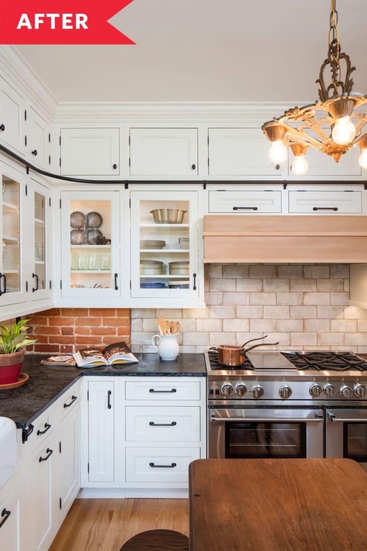 厨房装修后轻质木地板砖背挡板
