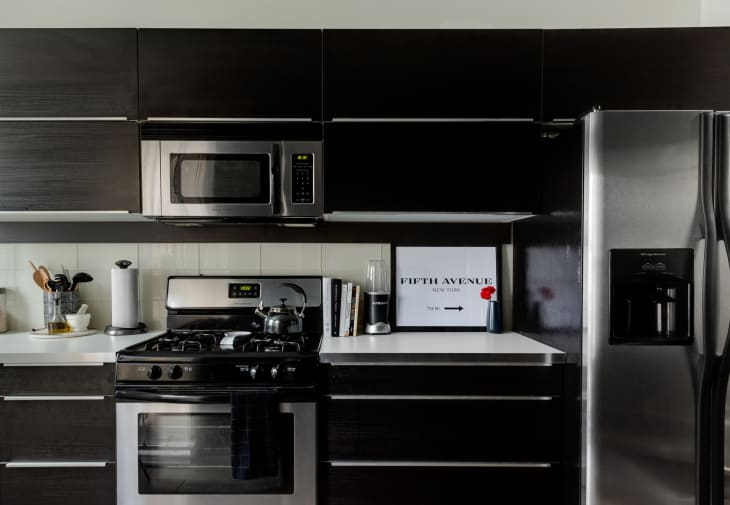 Black Kitchen Cabinets Apartment Therapy