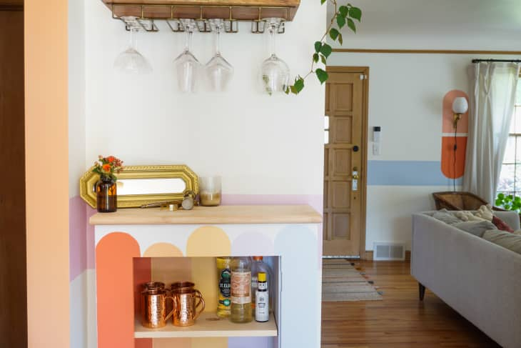 Diy Painted Color Shape Inspiration House Tour Apartment Therapy