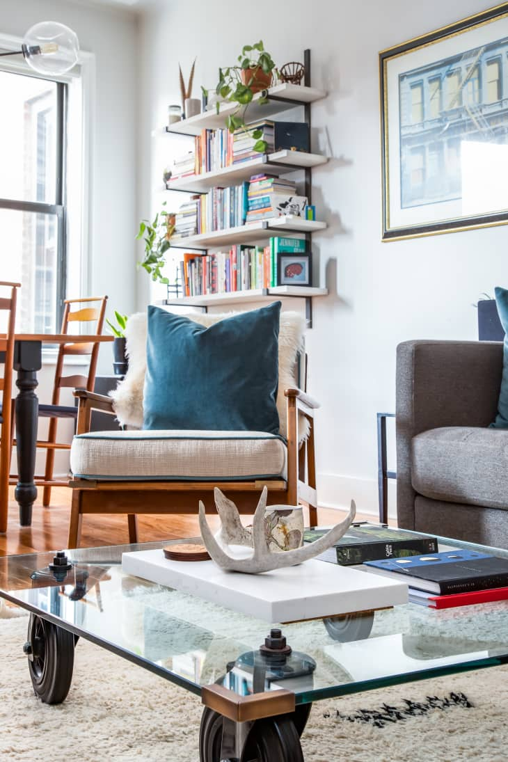 How To Fit A Bookcase Into A Small Living Room Apartment Therapy
