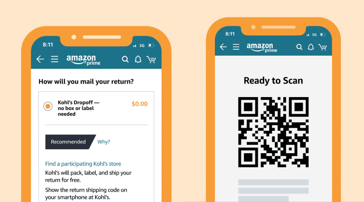 About Amazon S Free Qr Code Drop Off Returns Apartment Therapy