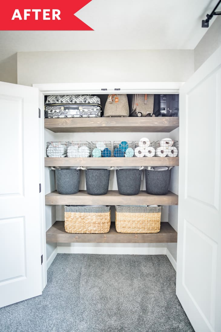 Before After An Organized Linen Closet That Actually Looks Stylish Apartment Therapy,Shabby Chic French Country Bedroom