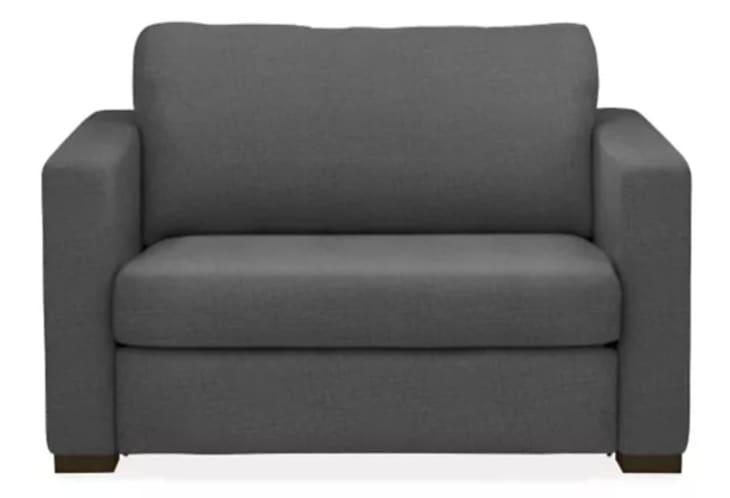 Dark gray sleeper chair