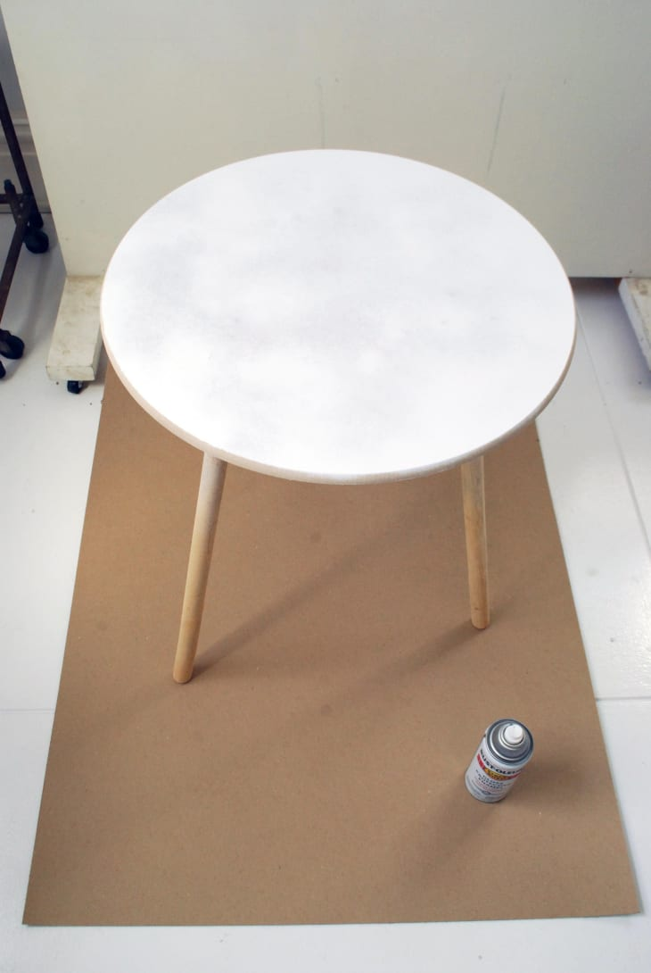 How To Make A Painted Faux Marble Table Top Apartment Therapy