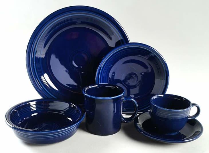 产品形象:嘉年华钴蓝五件套餐具