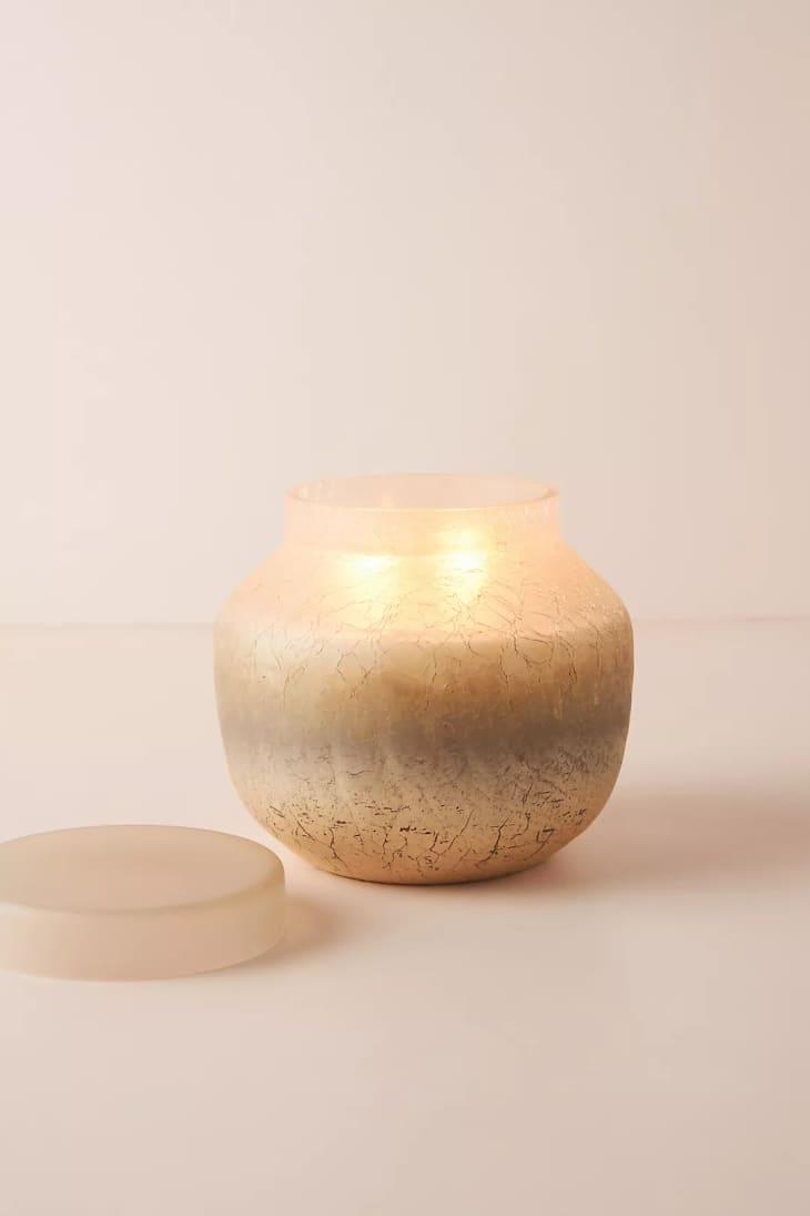 产品图片:金色收割层玻璃蜡烛