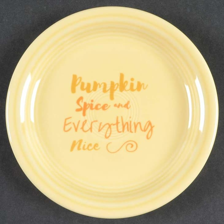 产品图片:Fiestaware开胃菜PlatePumpkin Spice