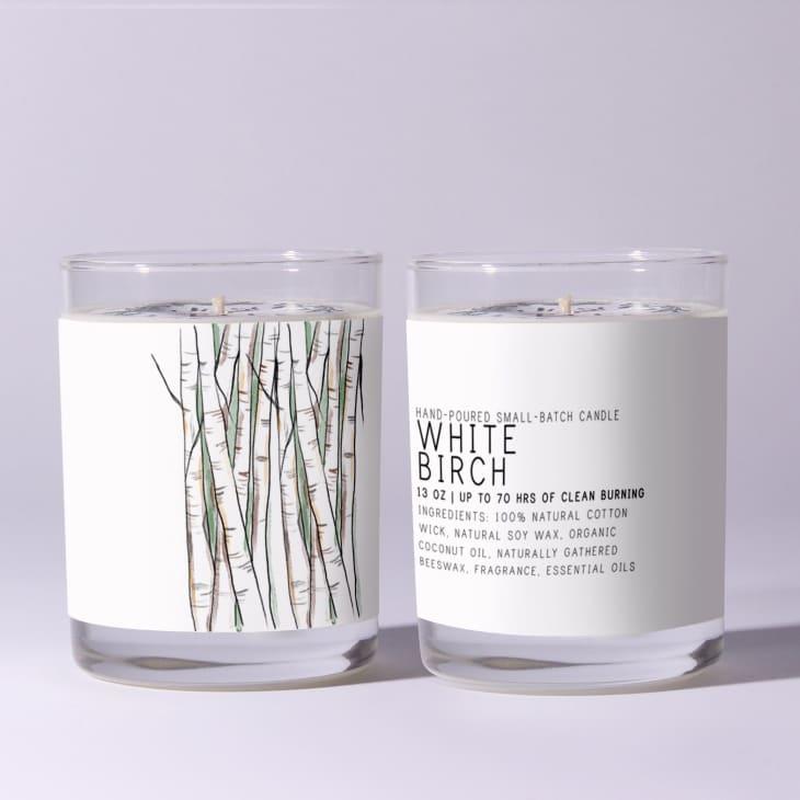 产品形象:白桦蜡烛