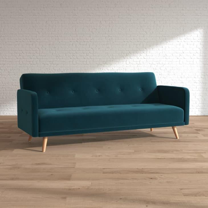 产品形象:内森天鹅绒沙发床