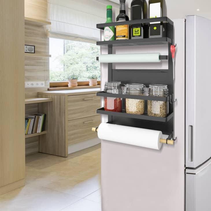 产品图片:准备和品味厨房架磁性冰箱储物架