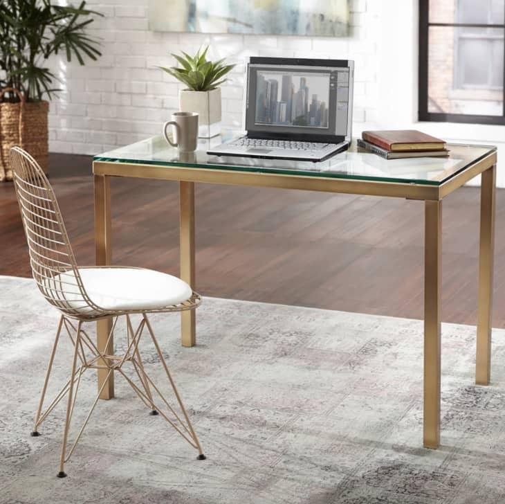 产品形象:Simple Living Manhattan Gold Metal Desk