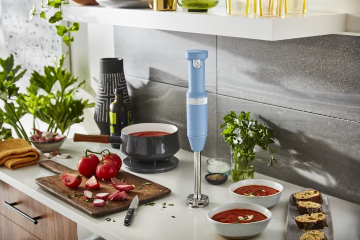 KitchenAid cordless immersion blender on the kitchen counter