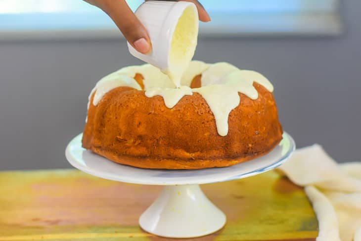 Golden Pineapple Pound Cake