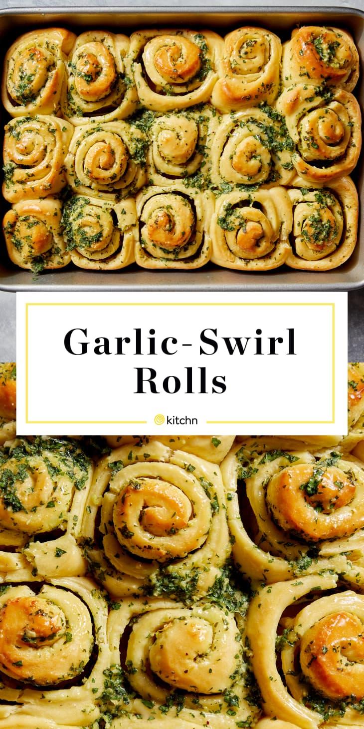 garlic swirl rolls custom pin