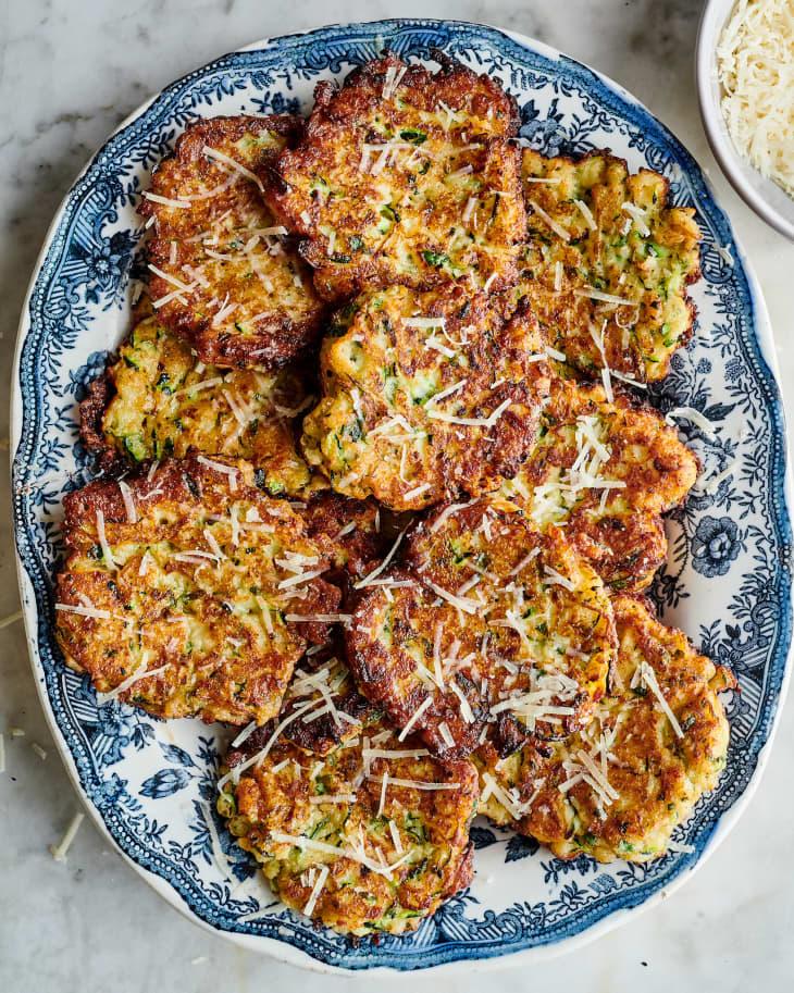 Panko Parmesan Zucchini Fritters