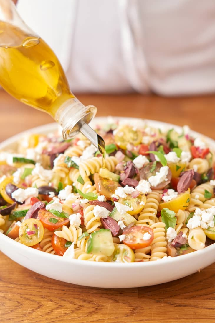 How To Make The Best Pasta Salad Without Mayo Kitchn