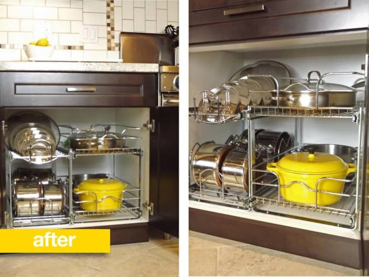 Organize Pots And Pans In Cabinet