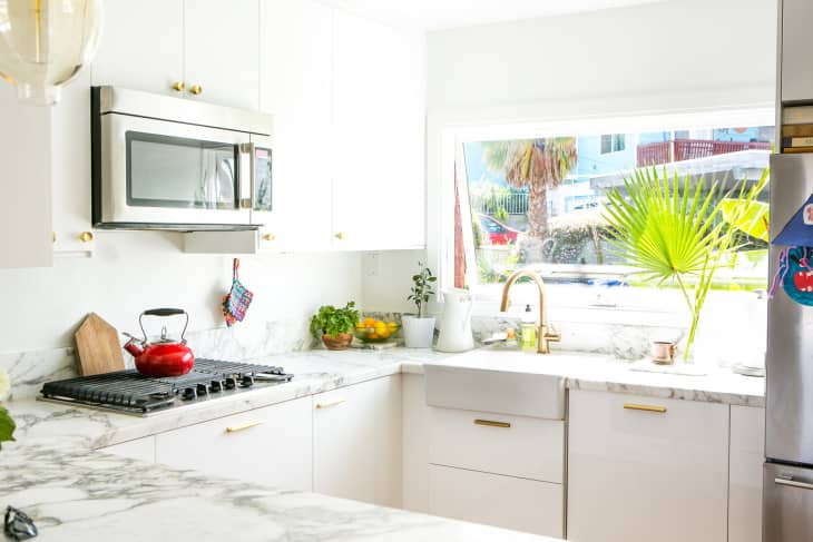 Ikea Kitchen Of The Week Small Glam And Smart Kitchn
