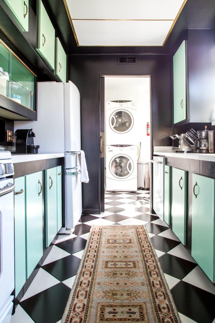 Unique Kitchen Color Combination Black Mint Green Apartment Therapy