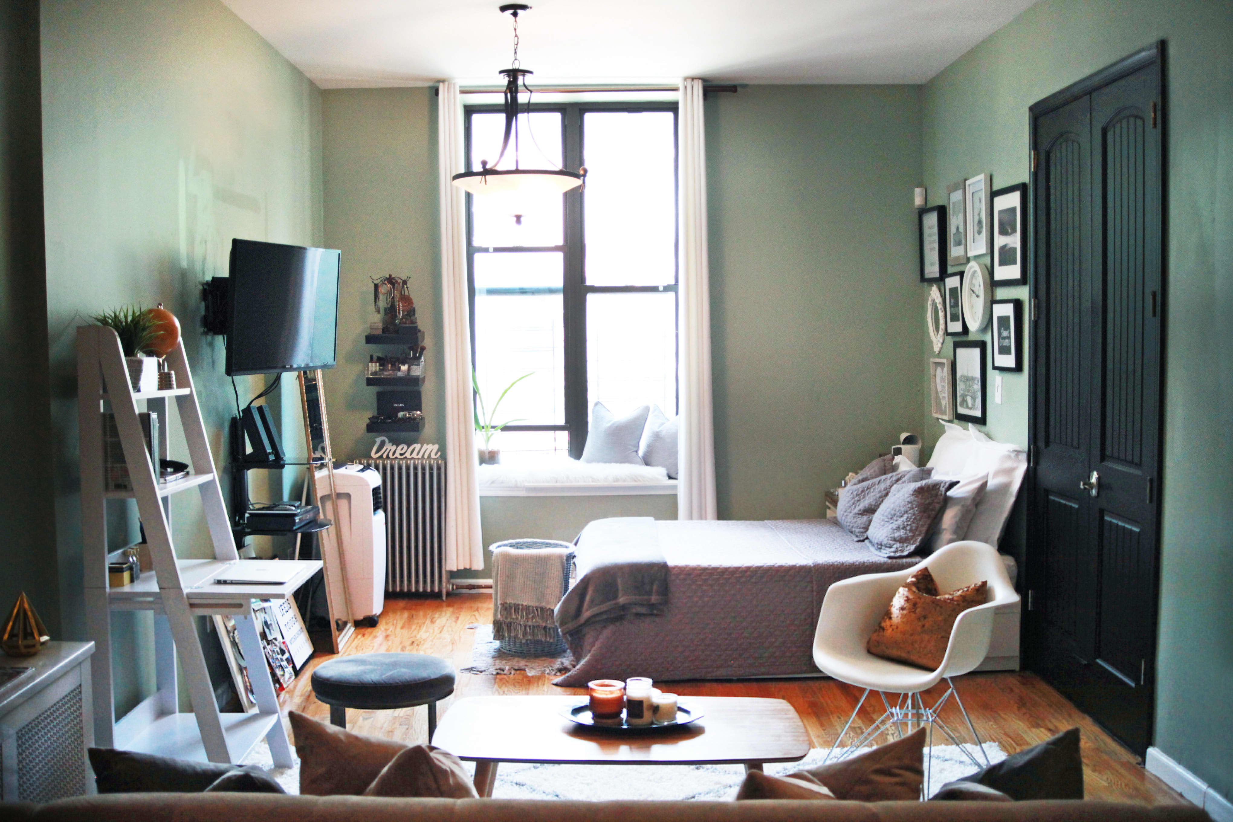 Small Space Living Ideas In A Tiny Brooklyn Studio Apartment Therapy