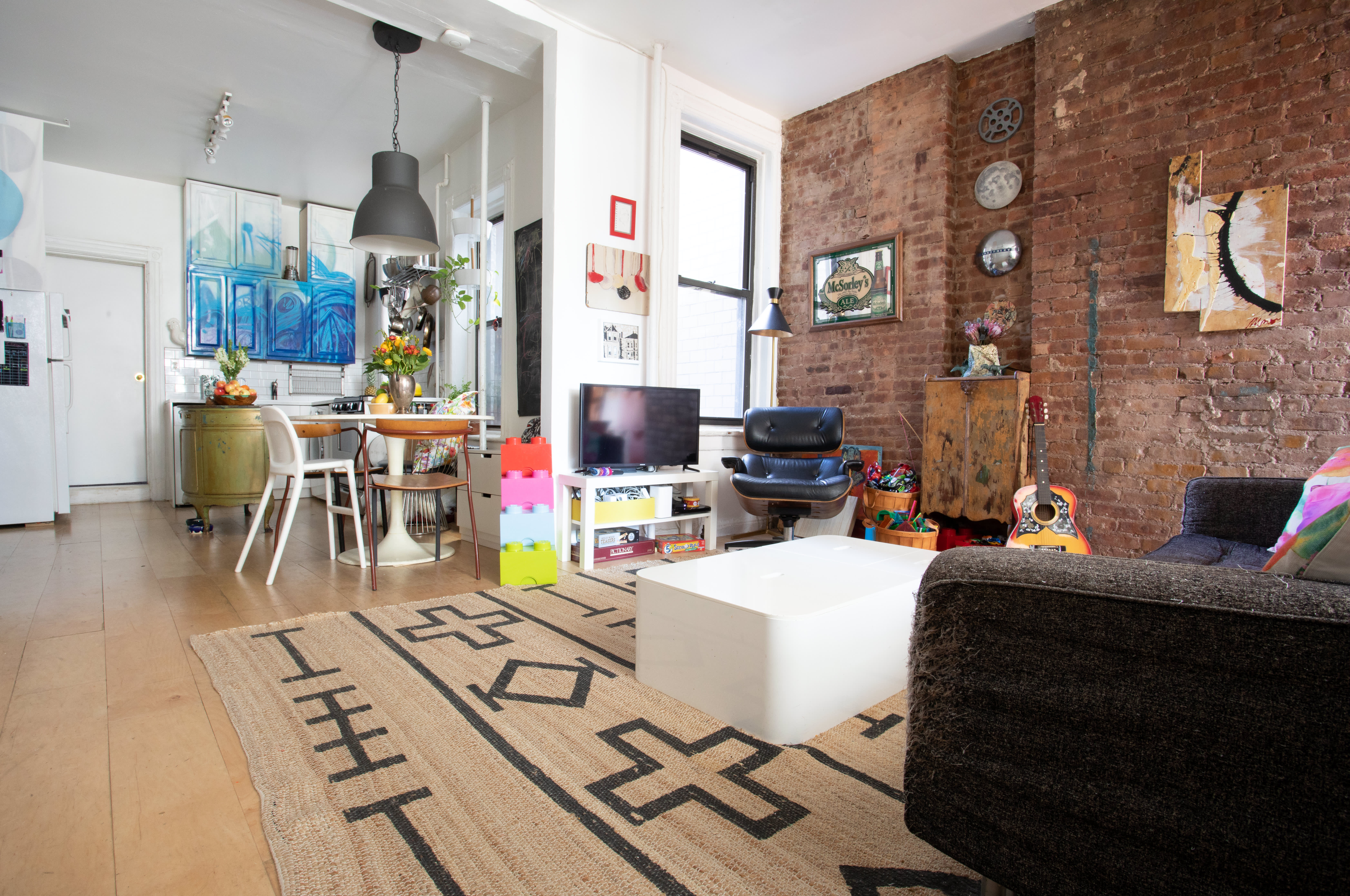 This Family Of Four S 500 Square Foot Apartment Feels Much Larger Apartment Therapy,Teak Wood Main Door Simple Design