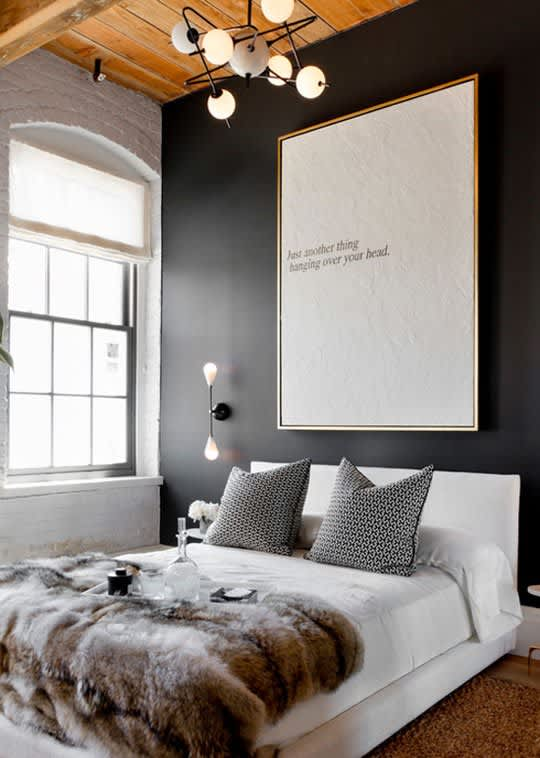 Do You Like It Big In The Bedroom Oversized Art Apartment Therapy