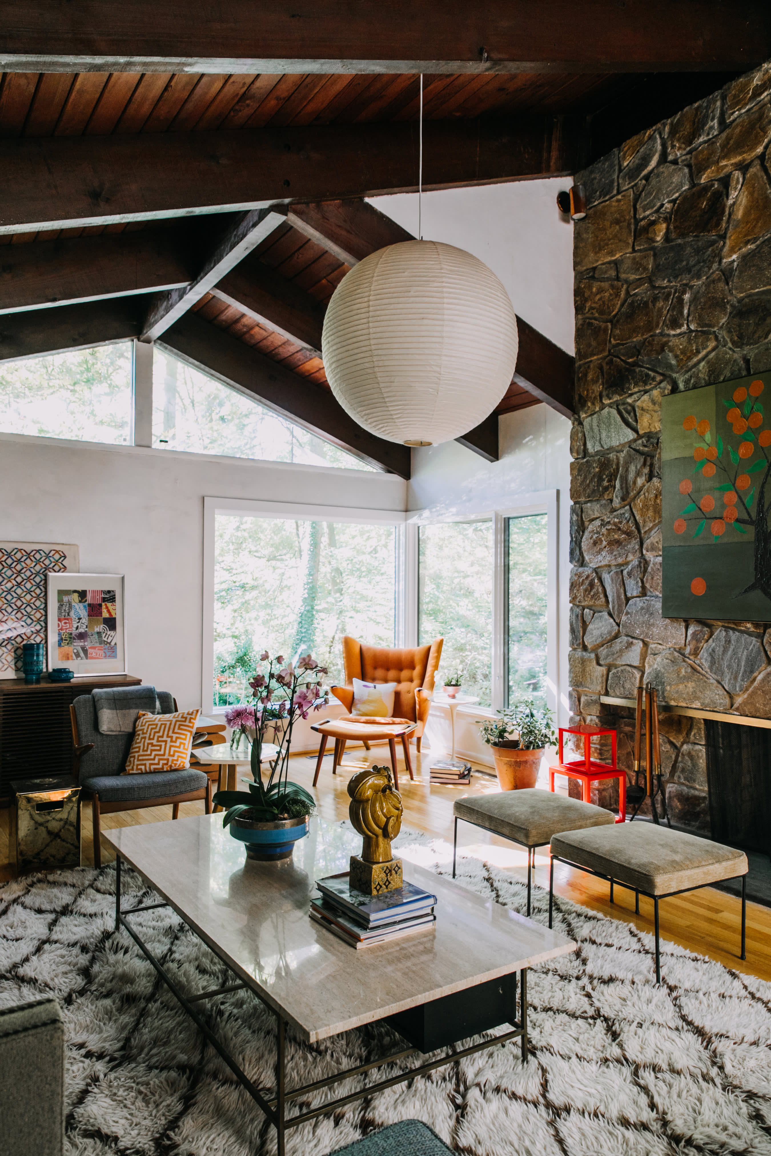 House Tour A Mid Century Modern Organic Delaware Home Apartment Therapy