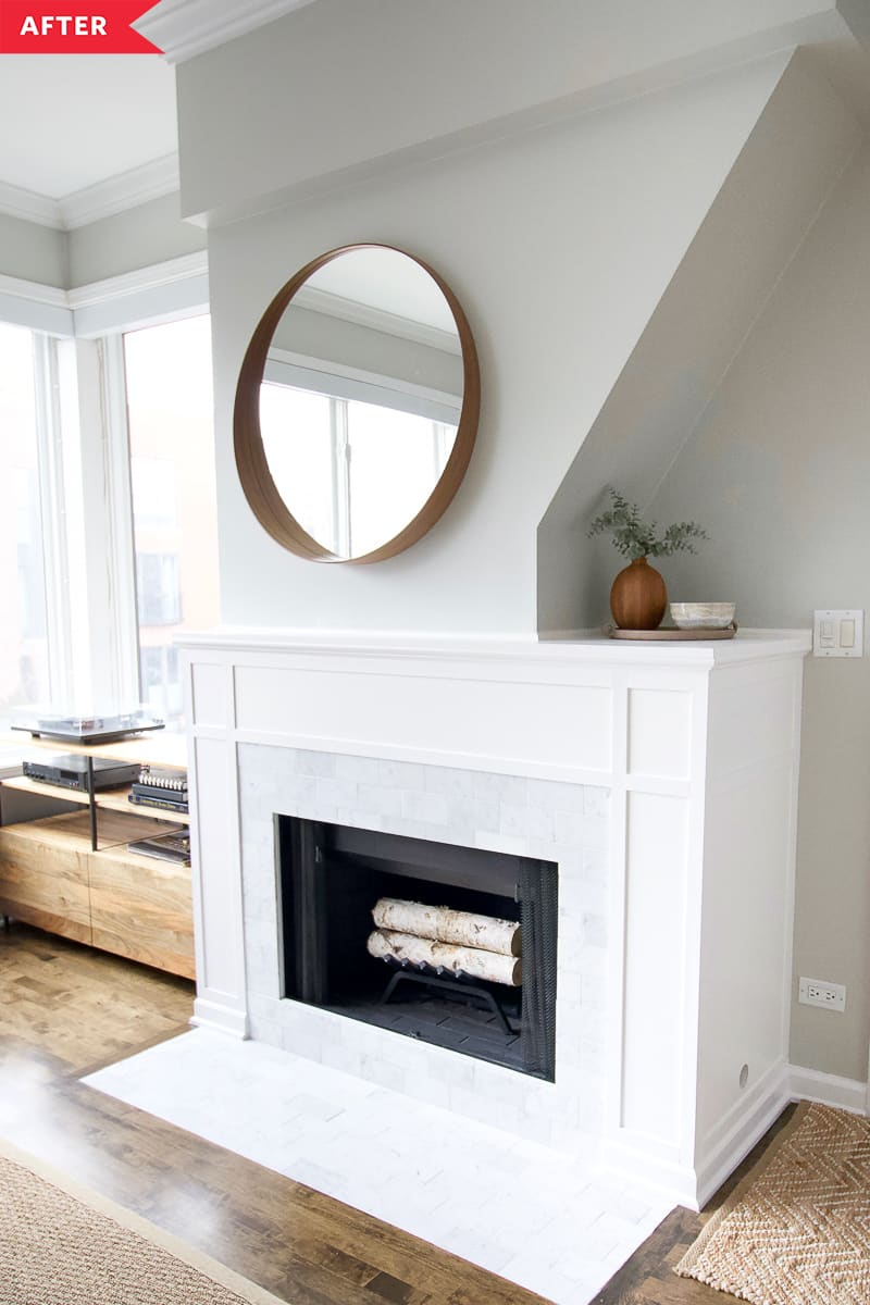 8 Best Fireplace Makeovers Beautiful Before After Fireplace