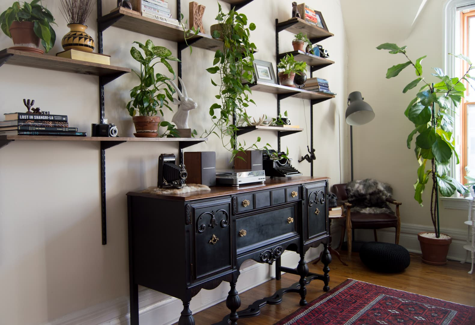 Plant Filled Warm Industrial Rustic Decor Inspiration Apartment Therapy