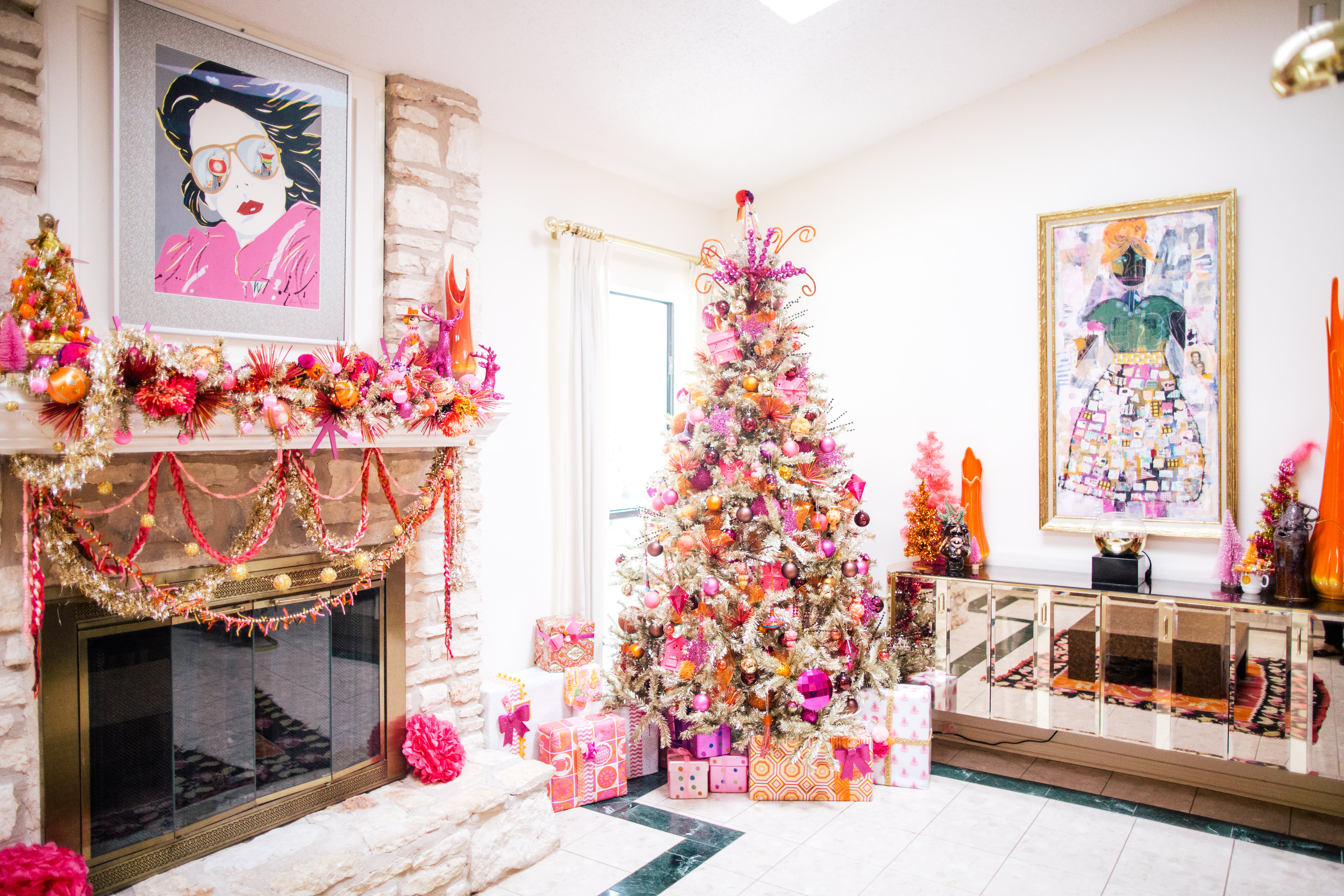 House Tour A Home With 100 Colorful Christmas Trees Apartment