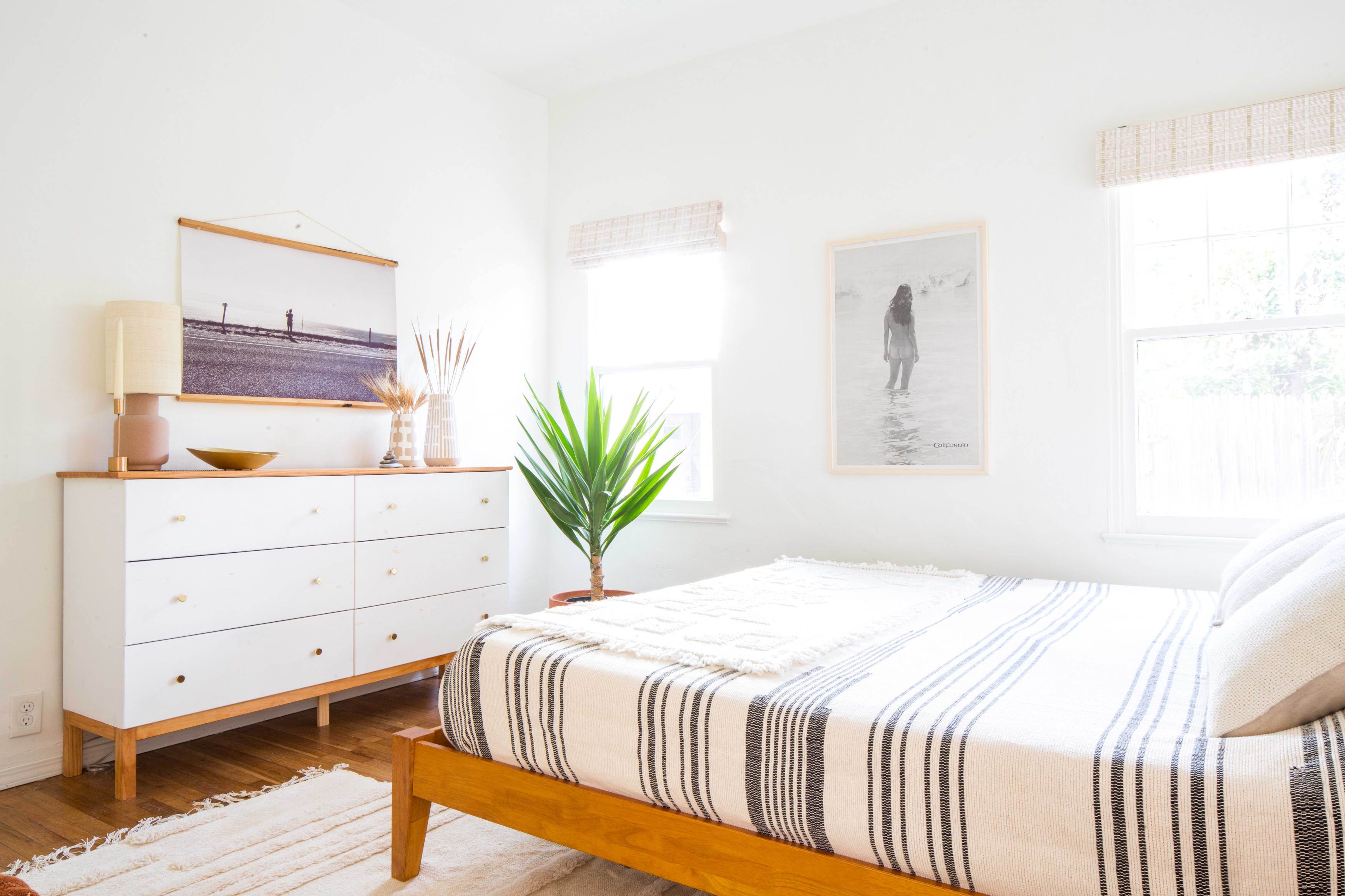 house tour: a boho minimal santa barbara home | apartment therapy