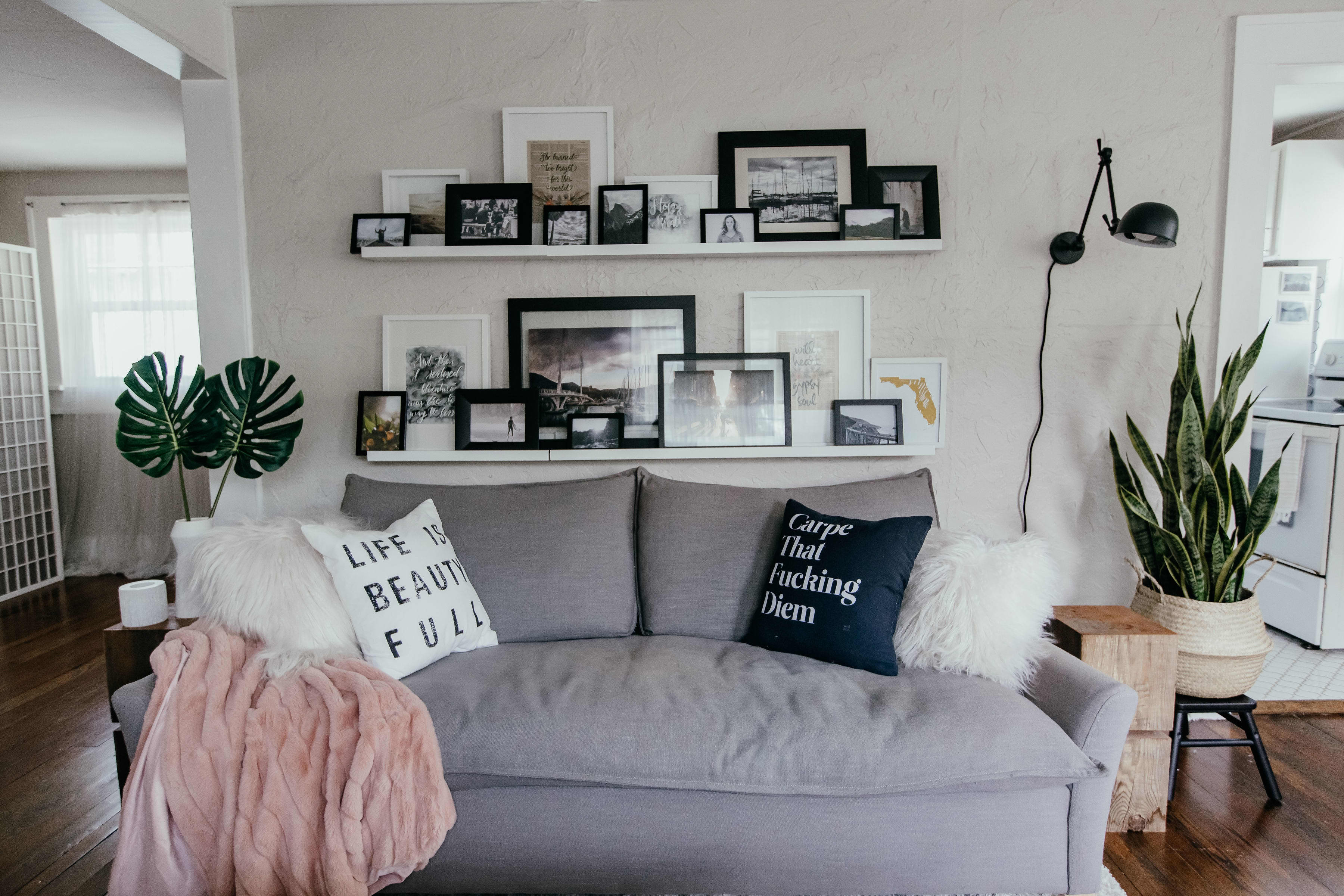 Small Space Decor Ideas In A Minimal Garage Apartment Apartment Therapy