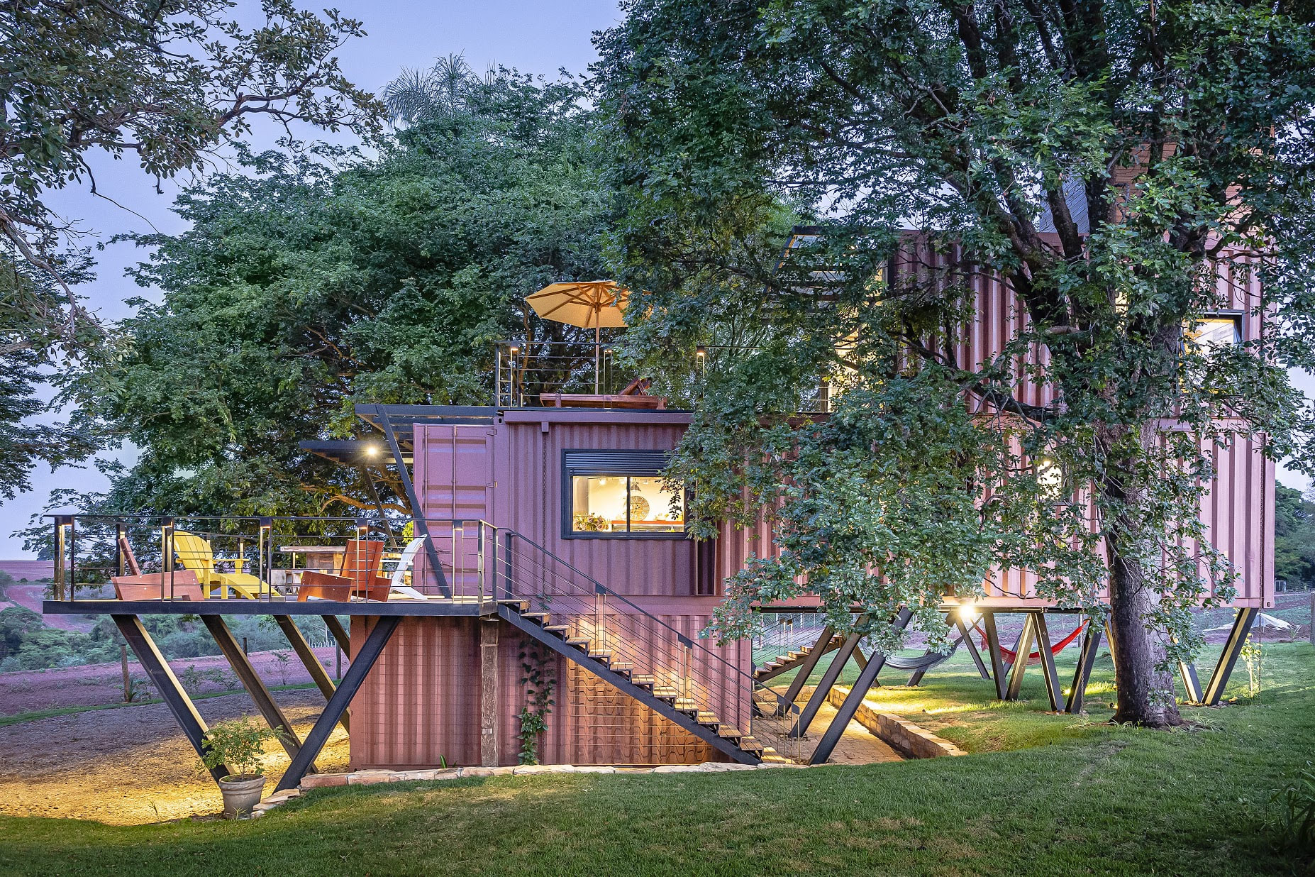 Picture of: Sustainable Shipping Container House In Brazil Suspended Off The Ground Apartment Therapy