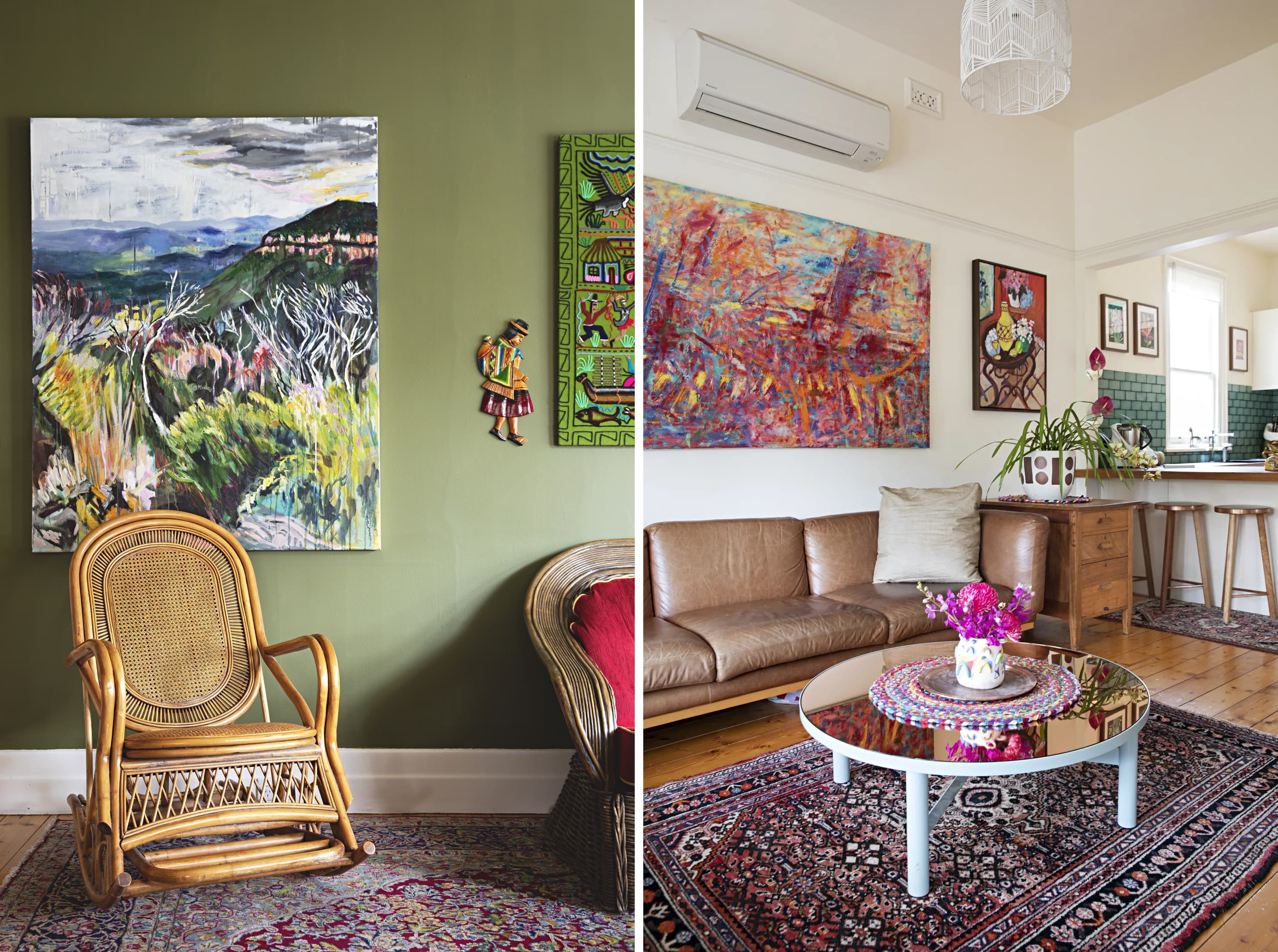 This Creative Melbourne Home Has the Most Envy-Inducing Collection of Colorful Art