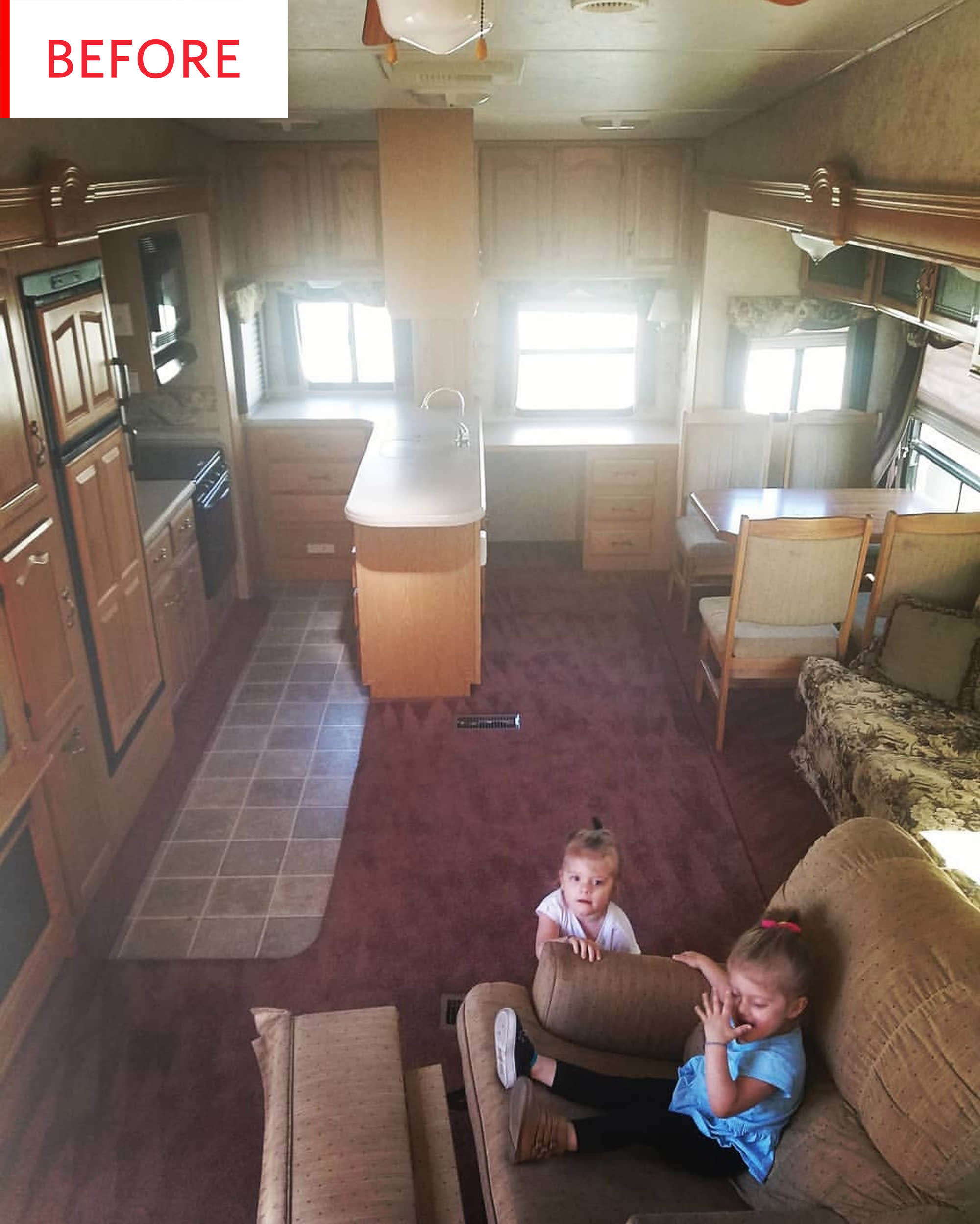 Before and After: A Dated RV is Now a Bright 320-Square-Foot Home to a Family of Four