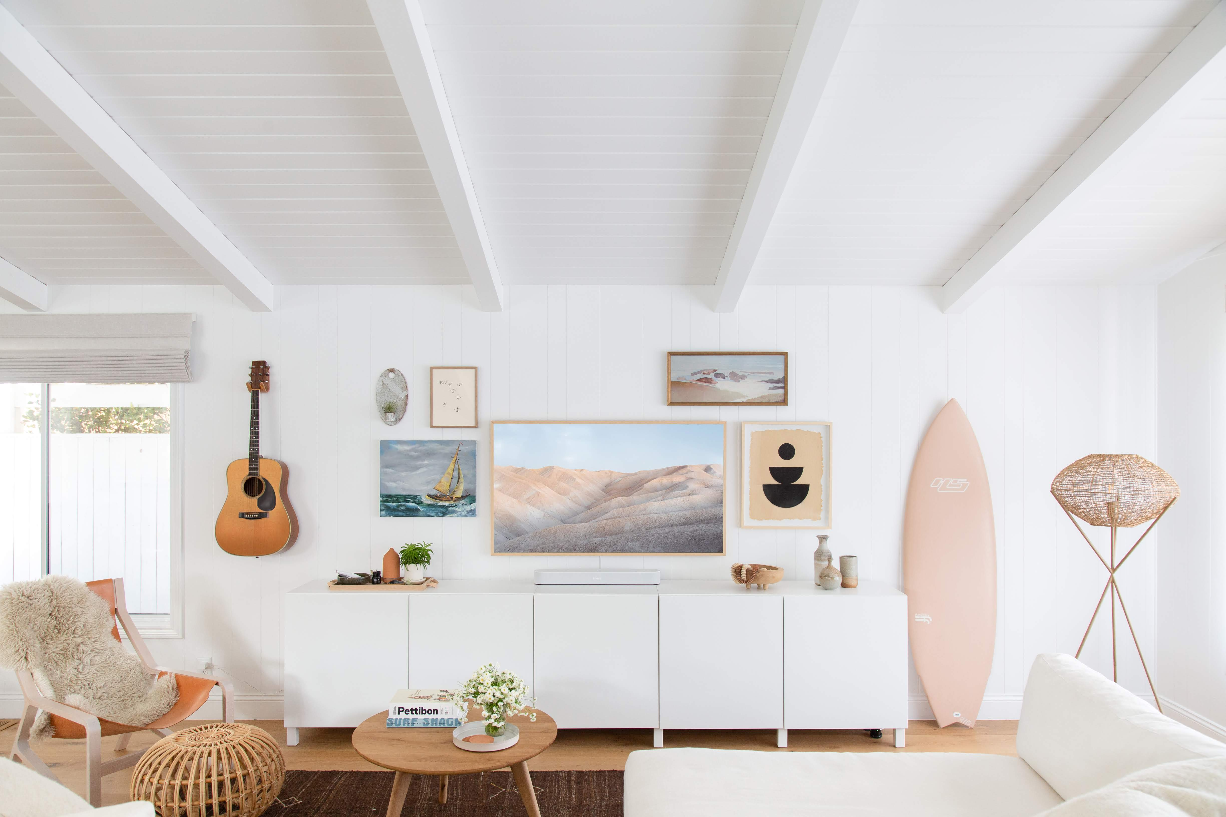 A Tech Expert's Breezy Beach House Is Decorated with Wellness in Mind